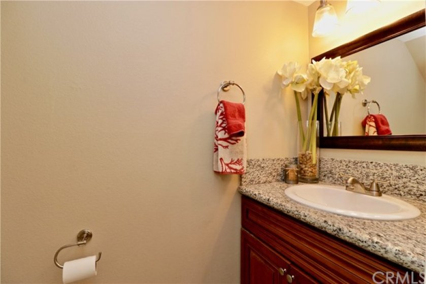 1/2 bathroom on the first floor perfect for guests.