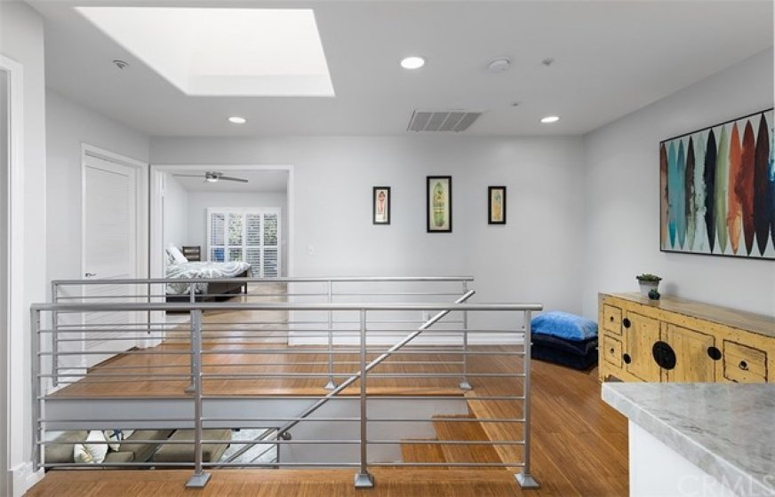 Modern Stair Railing with Skylight