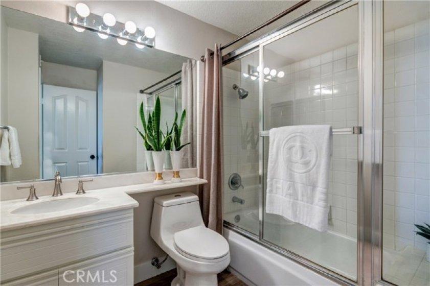Lower level full size bathroom