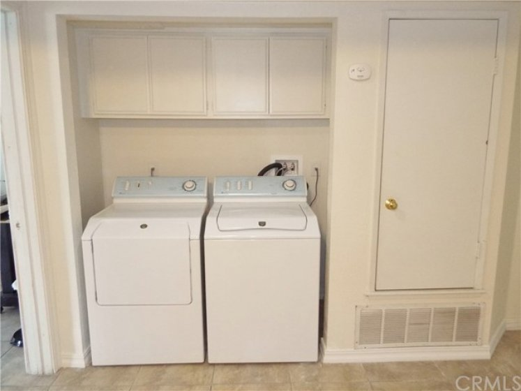 Full size indoor laundry.