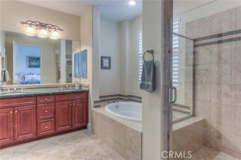 master bath/soak tub and shower