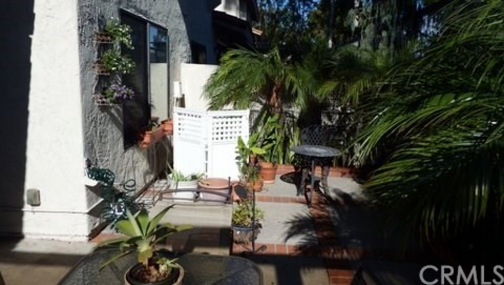Rear patio and AC enclosure