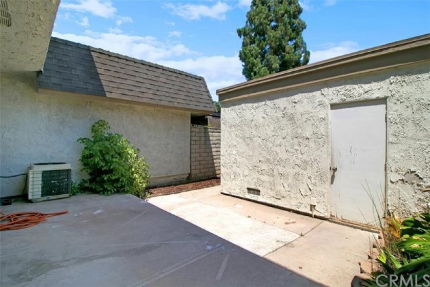 Private patio in between your 2-car garage and home.  A short walk--quick and easy to get to.  A time saver.  Think about it.