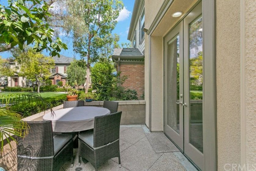 Another view of your large patio with dining area.