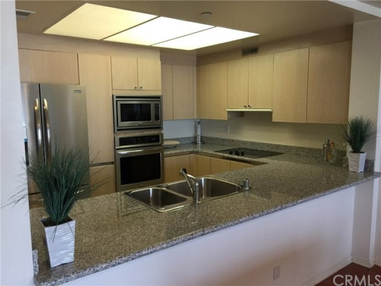 kitchen with brand new appiances