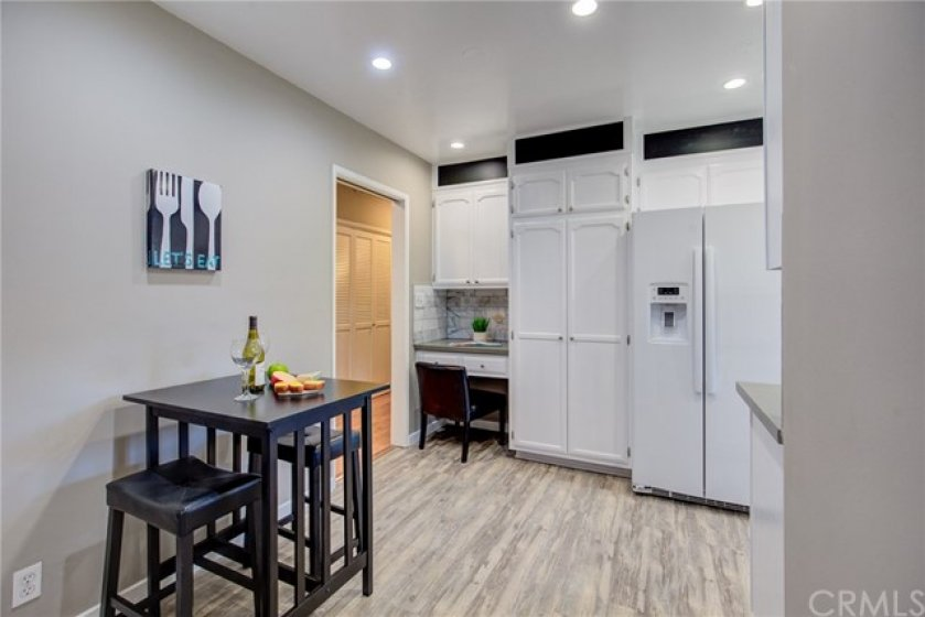 Flexible space in kitchen.