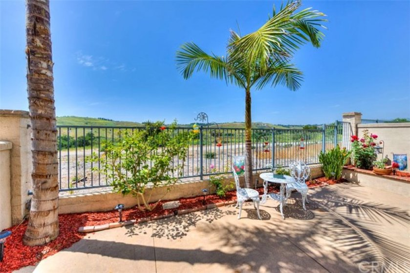 Enjoy the private patio with views!