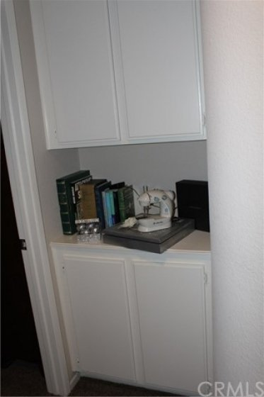 Linen cabinets in the upstairs hallway