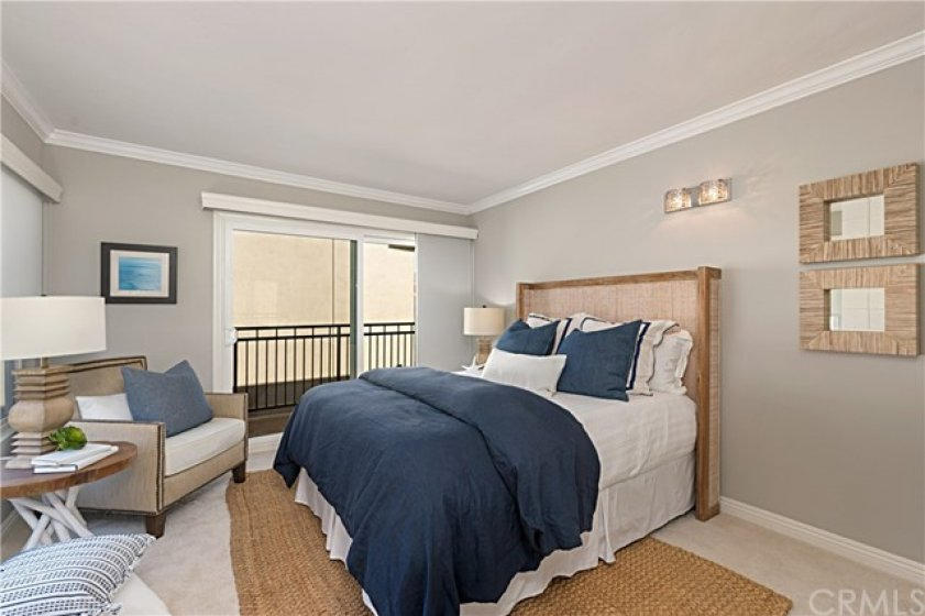 Second Bedroom with outside balcony.