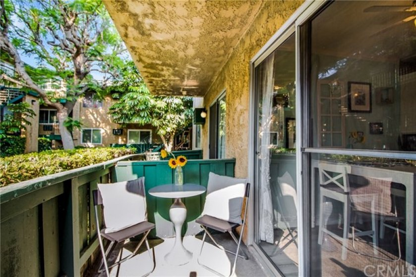 Enjoy the morning sunshine sitting in your enclosed patio over looking the tranquil courtyard.