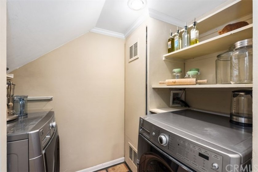 Laundry Room offers extra storage and easy access.