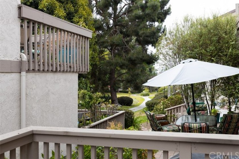 View from patio to grounds