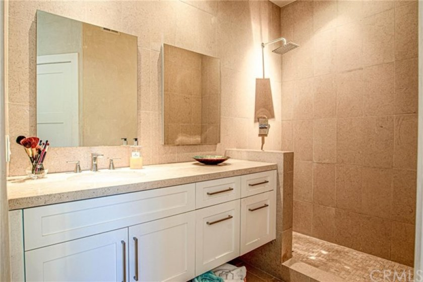 Gorgeous upgraded master bathroom.