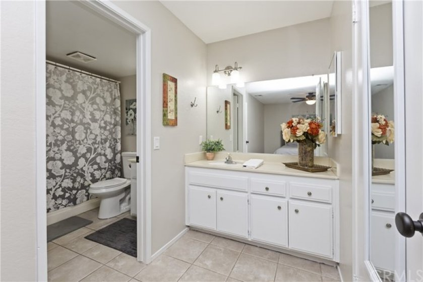 Master Bathroom private sink area.  Walk-in closet just to the right.