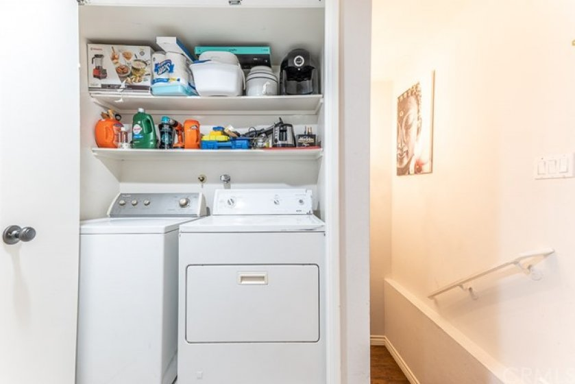 Side By Side Washer & Dryer With Added Shelving