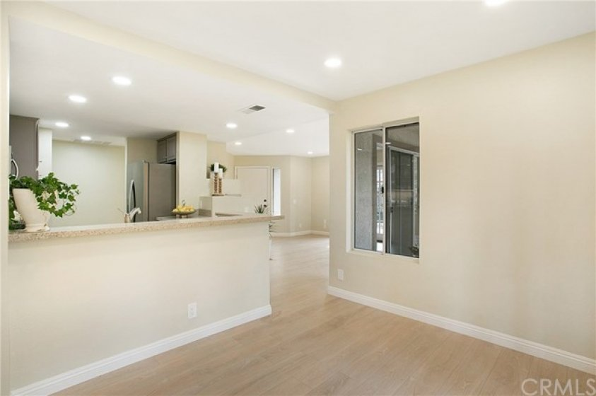 Dining area with breakfast bar