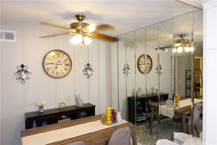 Dining room is right off kitchen is bright and spacious.