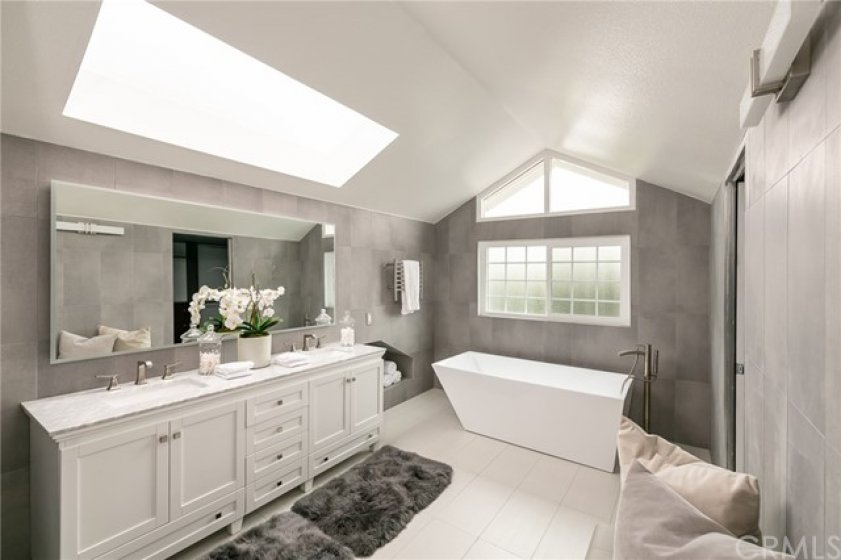 Master Bath w Double Vanity, Stand alone Tub, Towel Warmer, Glass enclosed Shower, Walk in Closet, Hans Grohe Hardware