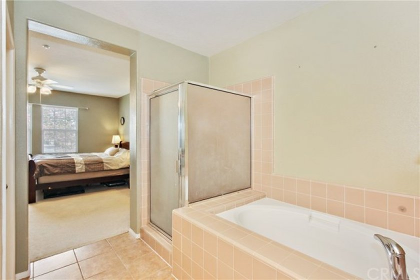 Separate tub & Shower in master bath