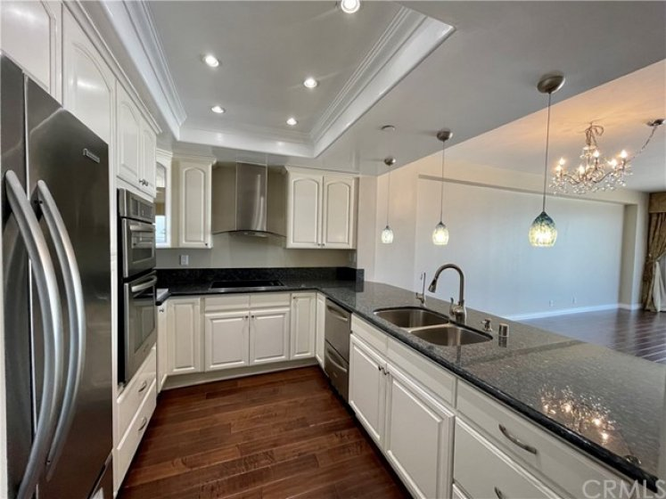 kitchen with modern lighting