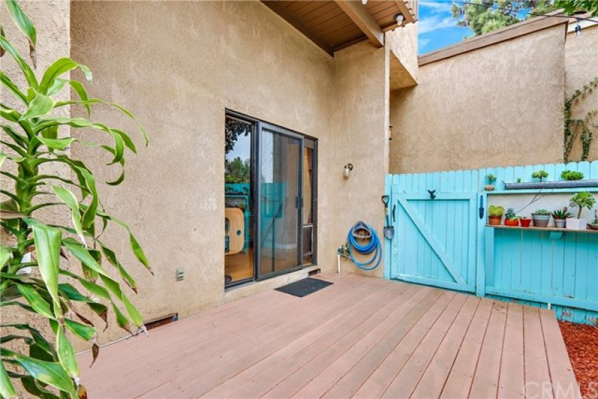 A large  and private outdoor patio area is just off the living room.  Great access for pets!