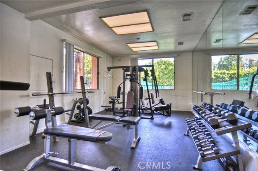 Association gym near-by.