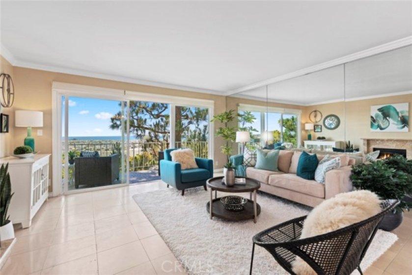Living room with ocean views!