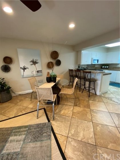 Recessed lights and ceiling fan.  This home also has central A/C for those warm summer days.