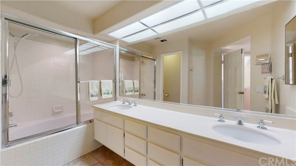 Master Bathroom with Full Tub and Shower.  Large Soaking Tub.