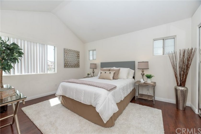 Spacious master Bedroom with vaulted ceiling