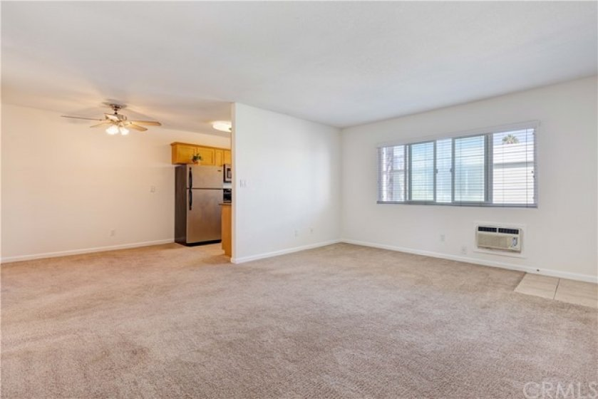 Before Virtual Staging of Living & Dining Areas