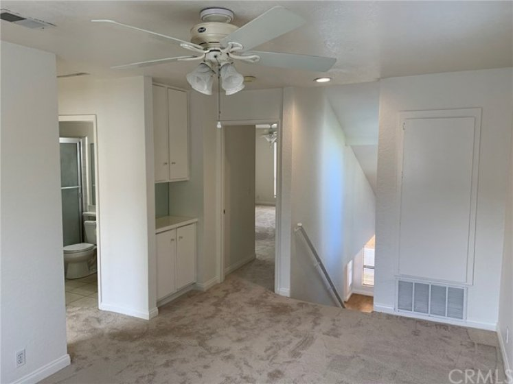 Upstairs Den with Storage Cupboards