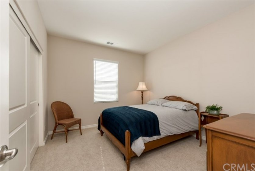Secondary upstairs bedroom with large closet...