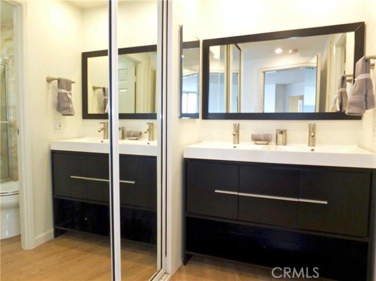Master vanity area by bath