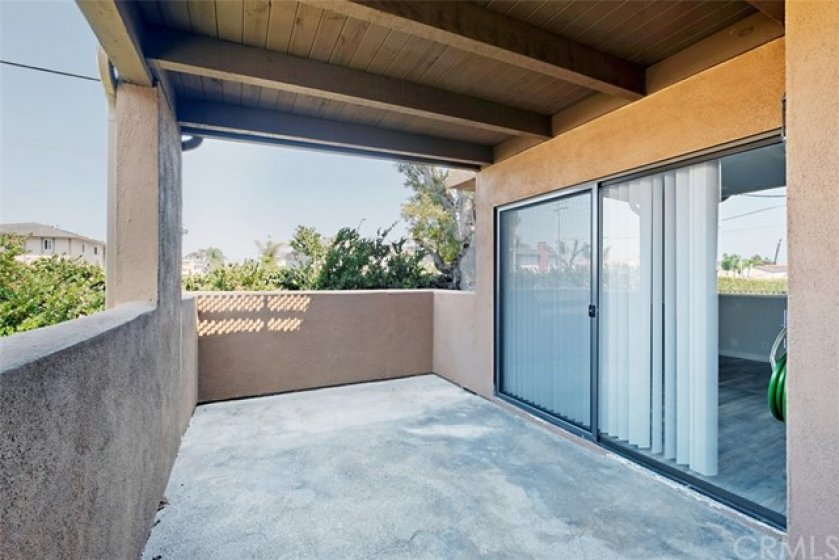 A spacious Patio off the Living Room