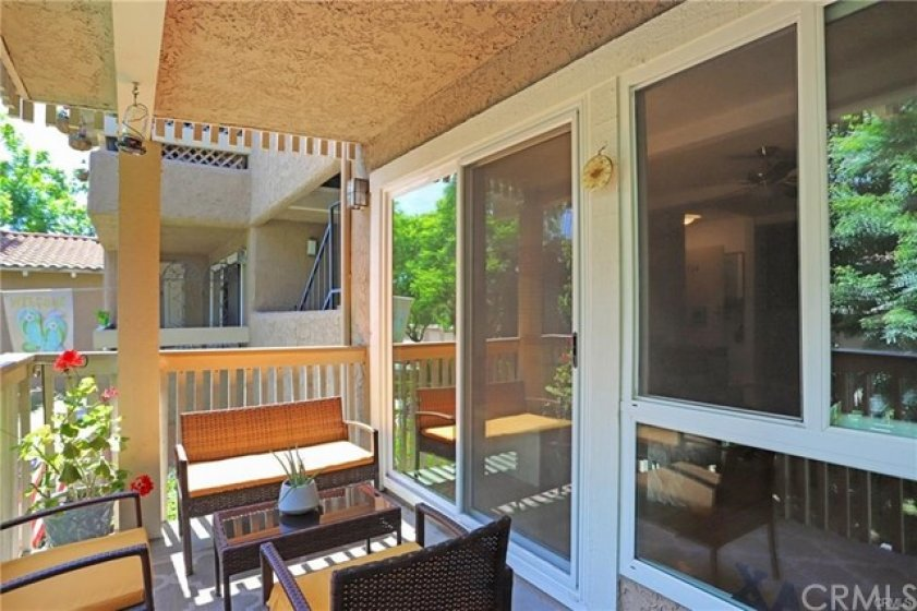 You will absolutely love the covered patio. Space for seating and a grill. A great place to unwind at the end of the day. Storage closet on balcony.