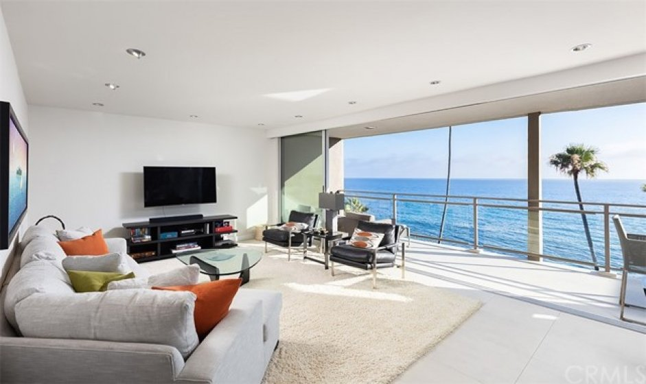 Family Room opens to Ocean View Balcony