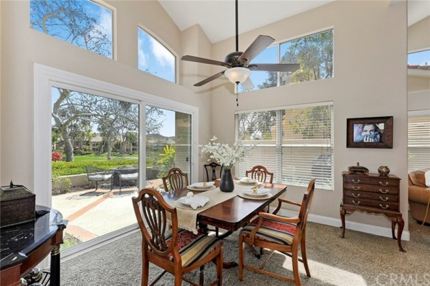 Formal Dining Room with a view of the golf course