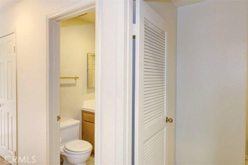 Convenient 1/2 bathroom downstairs