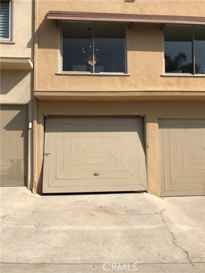 Rare luxury: attached car garage, with auto door opener