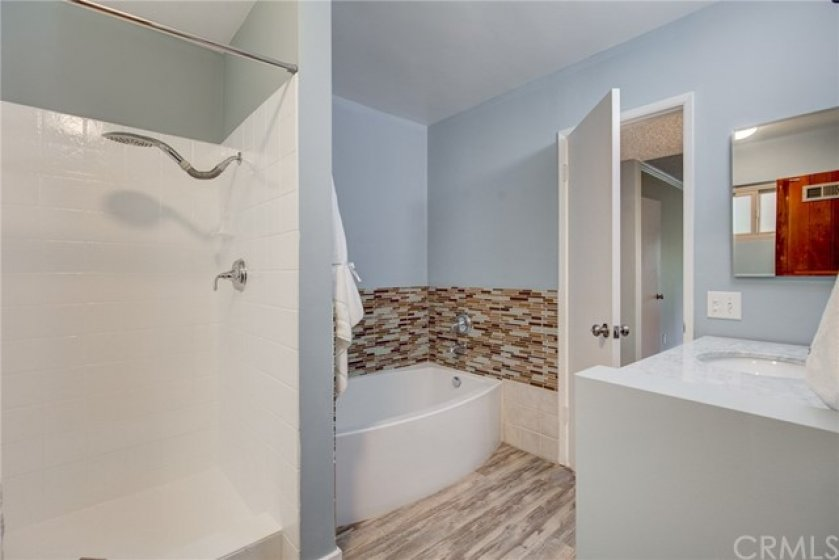 Easily accessible walk-in shower.