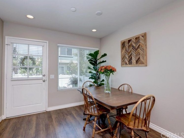 As you walk in, you will notice light coming in from the front windows and the recessed lighting above.