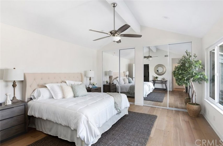Spacious and bright main level master suite.