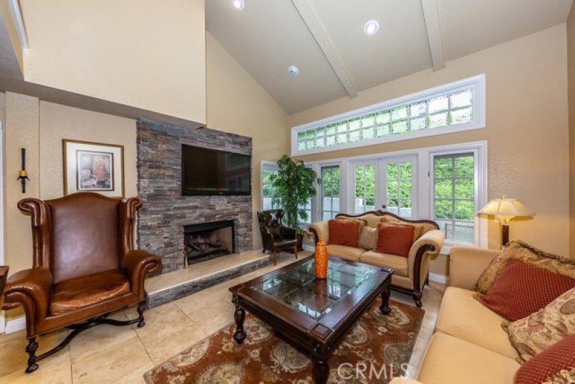 Fireplace in LR