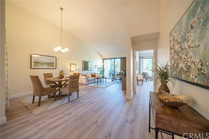 New high end laminate flooring in living, dining, and bedrooms!