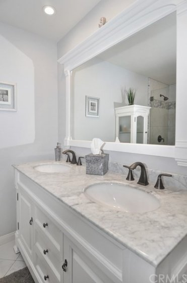 Gorgeous Remodeled Master bath.