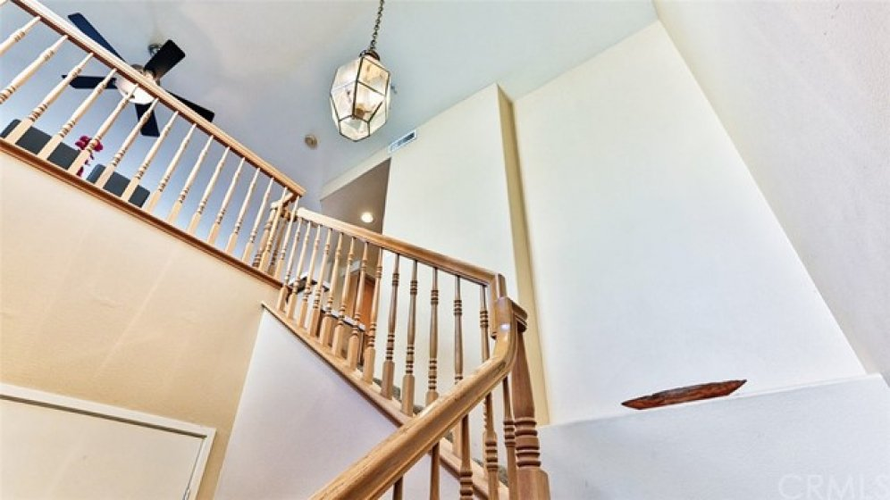 Beautiful stairway at foyer to your carriage home, no-one above or below you!!
