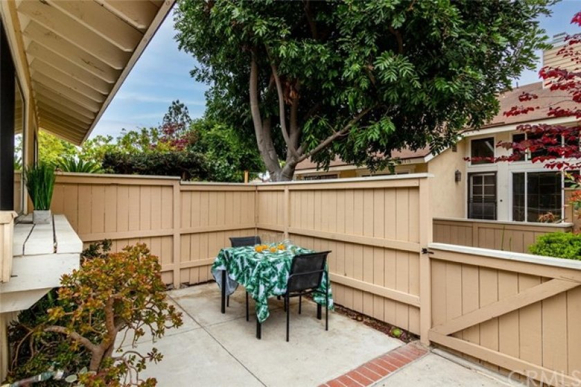Wonderful size patio for out door dining.
