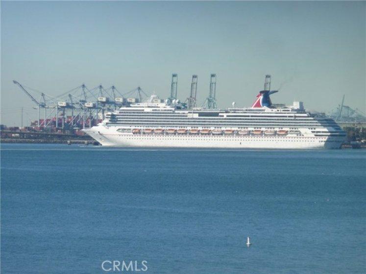 Carnival Cruise Ship at Terminal view mls