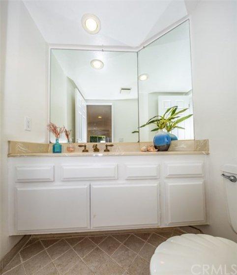 Downstairs guest bathroom.